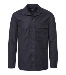 Armani Jeans Navy Blue Regular Fit Shirt