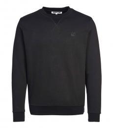 Black Solid patch sweatshirt