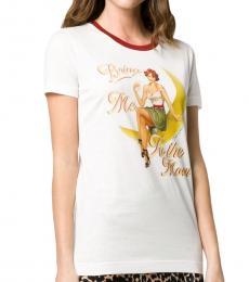 Dolce & Gabbana White Graphic Cotton Top