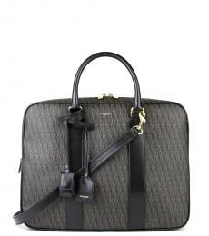 Saint Laurent Black Monogram Museum Large Briefcase Bag