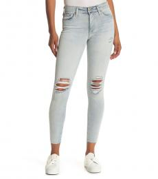 AG Adriano Goldschmied Light Blue Farrah High-Rise Ankle Skinny Jeans