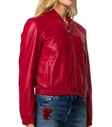 Emporio Armani Red Bomber Jacket