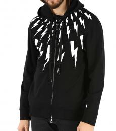 Neil Barrett Black Thunderbolt Printed Jacket