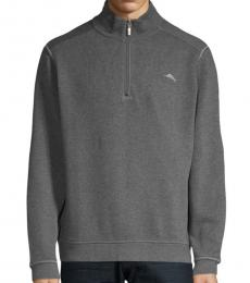 Dark Grey Antigua Cotton Sweater