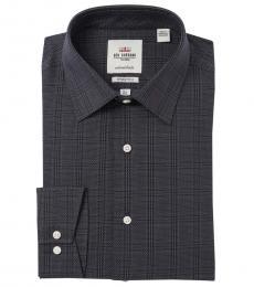 Ben Sherman Dark Grey Tailored Slim Fit Dress Shirt