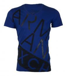 Royal Blue Slim Fit Logo T-Shirt