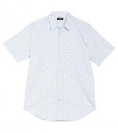 Light Blue Short Sleeve Slim Fit Shirt