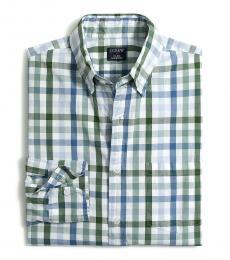 Blue Plaid Classic Casual Shirt
