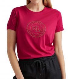 Ralph Lauren Bright Fuchsia Logo Cotton Tee