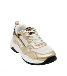 Juicy Couture Girls Gold Leopard Hayward Sneakers