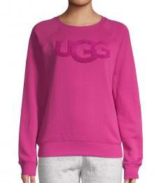 UGG Pink Fuzzy Logo Pullover
