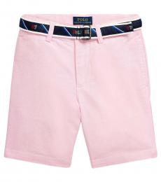 Ralph Lauren Little Boys Pink Slim Fit Belted Oxford Shorts