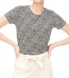 Multi Color Leopard Print Cotton Top