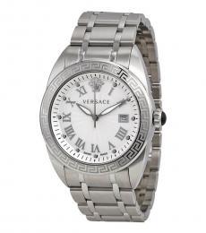 Versace Silver V-Spirit Logo Watch