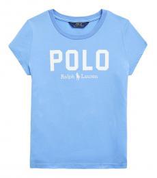 Ralph Lauren Girls Harbor Island Blue Polo T-Shirt