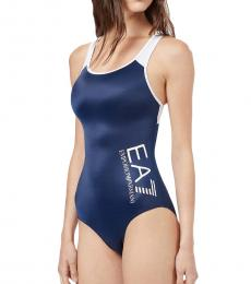 Emporio Armani Navy Logo Swimsuit