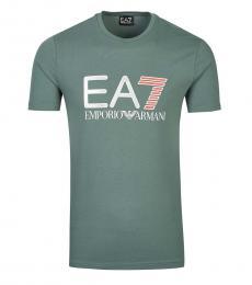 Emporio Armani Olive Logo Regular Fit T-Shirt