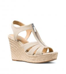 Michael Kors Light Cream Berkley Wedges