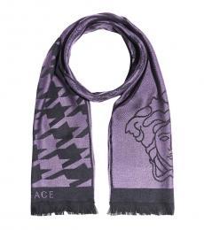 Versace Purple Logo Scarf