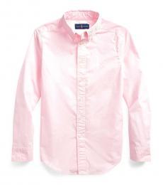Ralph Lauren Boys Carmel Pink Garment-Dyed Shirt