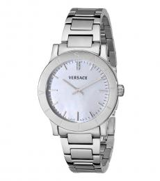 Versace Silver Diamond Watch