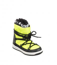 Stella McCartney Boys Fluorescent Yellow Ski Boots