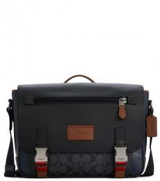 Coach Navy Blue Track Large Messenger Bag