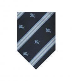 Burberry Dark Blue Logo Tie