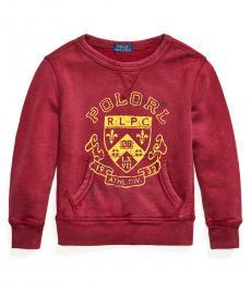 Ralph Lauren Little Boys Garnet Fleece Graphic Sweatshirt