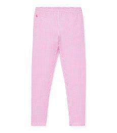 Ralph Lauren Girls Baja Pink Gingham Leggings