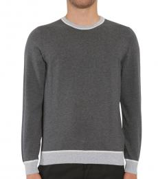Grey Marcelli Colourblock Sweater