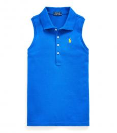 Ralph Lauren Girls Cruise Royal Sleeveless Polo
