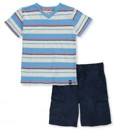 DKNY 2 Piece T-Shirt/Shorts Set (Baby Boys)