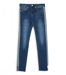 7 For All Mankind Girls Blue Classic Skinny Jeans
