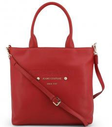 Versace Jeans Red Classic Couture Large Tote