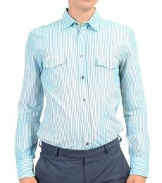 Hugo Boss Blue Multi-Color Casual Shirt