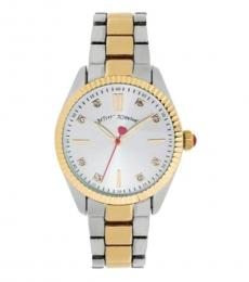 Betsey Johnson Silver Ritzy Time Piece