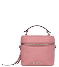 Miu Miu Pink Madras Mini Bucket Bag