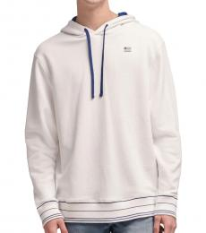 DKNY Standard White Stacked Logo Flag Hoodie