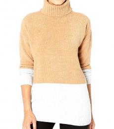 Beige Long Sleeve Pullover Sweater