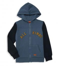7 For All Mankind Little Boys Navy Cotton-Blend Hoodie