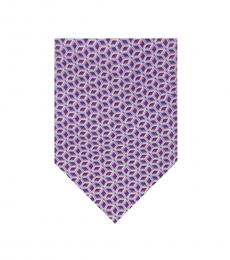 Michael Kors Purple Outline Cubic Print Tie