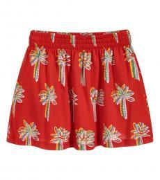 Stella McCartney Girls Red Palm Tree Print Skirt