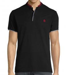 Roberto Cavalli Black Short-Sleeve Cotton Polo