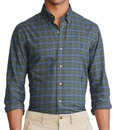 Ralph Lauren Olive Navy Classic-Fit Gingham Shirt