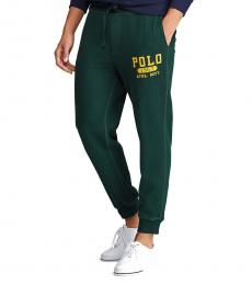 College Green Fleece Graphic Jogger