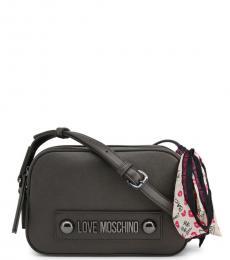 Love Moschino Dark Grey Box Small Crossbody