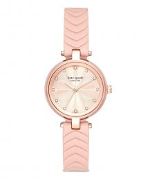 Kate Spade Pink Quilted Leather Watch