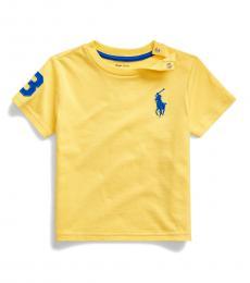 Ralph Lauren Baby Boys Oasis Yellow Big Pony T-Shirt