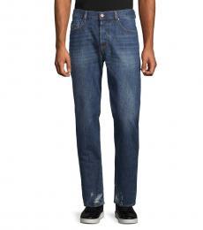 Denim Distressed Skinny Jeans